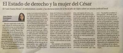EL ESTADO DE DERECHO Y LA MUJER DEL CÉSAR